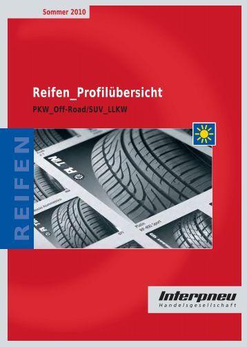 Sommer 2010 Reifen_Profilübersicht REIFEN PKW_Off-Road ...