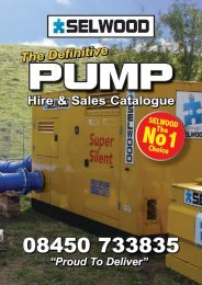 Hire & Sales Catalogue - Selwood