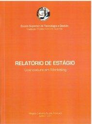 Relatório de Estágio Curricular - Biblioteca Digital do IPG - Instituto ...