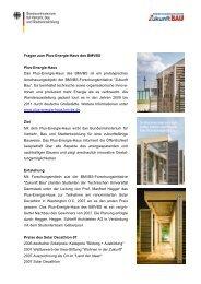 Fragen zum Plus-Energie-Haus des BMVBS Plus-Energie-Haus ...