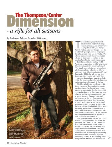 Dimension Australian Shooter November 2012 - Frontier Arms