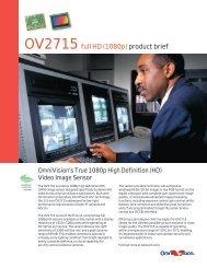 OV2715 full HD (1080p) product brief - OmniVision