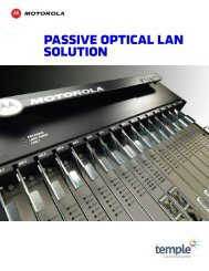 Motorola and temple Passive Optical LAN overview