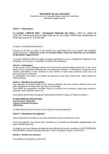Consulter le règlement - Étude Darricau-Pecastaing 75018