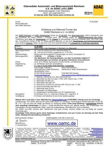 An den - OAMC Reinheim