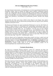 Vorwort - Orgelbau Walcker-Mayer