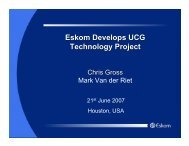 Eskom Develops UCG Technology Project - Zeus Development