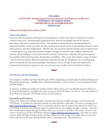 syllabus for pre-practicum - unt anthropology - university of, Powerpoint templates
