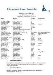 Annual General Meeting 2009 (pdf) - International Dragon Association