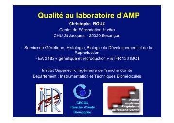 Qualité au laboratoire d'AMP