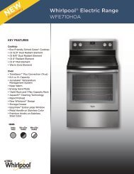 Whirlpool® Electric Range - Inside Advantage