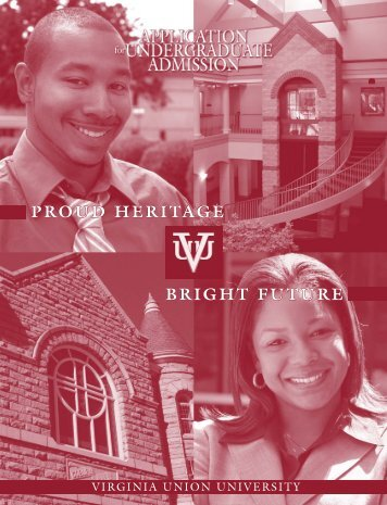 VUU 2006 Application - Virginia Union University