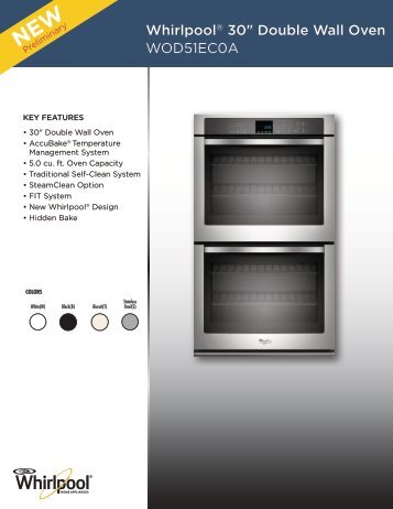 """Whirlpool® 30"""" Double Wall Oven WOD51eC0A - Inside Advantage"""