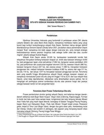 12. SITU-SITU DEPOK.pdf - Blog Staff UI - Universitas Indonesia