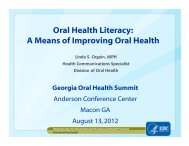 Oral Health Literacy: A Means of Improving Oral ... - Blsmeetings.net