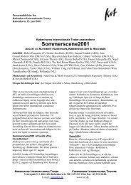 Sommerscene2001 - Københavns Internationale Teater