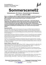Sommerscene02 - Københavns Internationale Teater