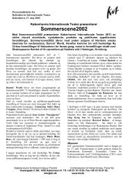 Sommerscene2002 - Københavns Internationale Teater