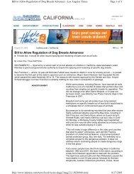 Bill to Allow Regulation of Dog Breeds Advances - Understand-A-Bull