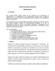 Projet de feuille de route - Madagascar - Paris21