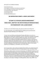 Übersetzung der Erklärung ins Deutsche - Biopiraterie