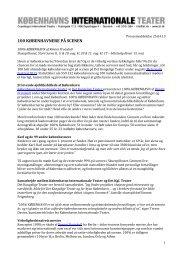 PDF - Københavns Internationale Teater