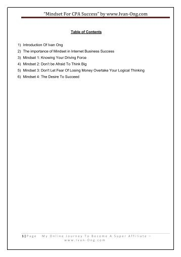 """""""Mindset For CPA Success"""" by www.Ivan-‐Ong.com - My Online ..."""