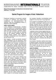Samlet Program for Images of Asia i København - Københavns ...