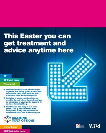 This Easter you can get treatment and advice anytime here