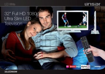 "32"" Full HD 1080p Ultra Slim LED Television - Linsar"