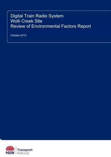 Wolli Creek Review of Environmental Factors Report - Transport for ...