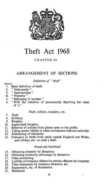 section 4 theft act 1968