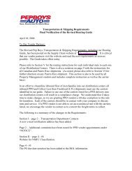 Transportation & Shipping Requirements Final Notification of the ...