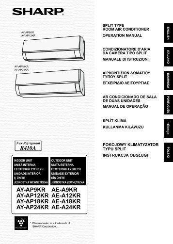AY-AP9KR/AP12KR/AP19KR/AP24KR/AE-A9KR/A12KR ... - Sharp