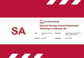 National Strategy General Stakeholder Workshop in Adelaide, SA