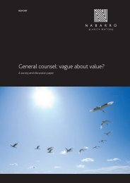 General counsel: vague about value? - Nabarro