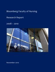 2008-2010 Annual Research Report - Lawrence S. Bloomberg ...