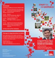 STADTTEILTAG - SPD-Fraktion des Abgeordnetenhauses von Berlin