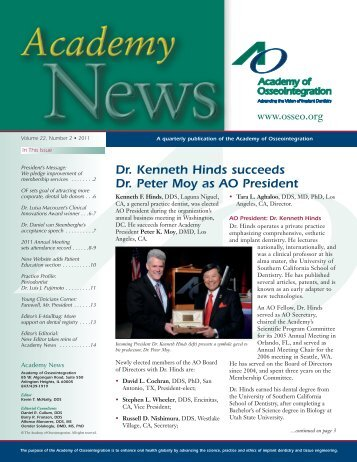 Dr. Kenneth Hinds succeeds Dr. Peter Moy as AO President