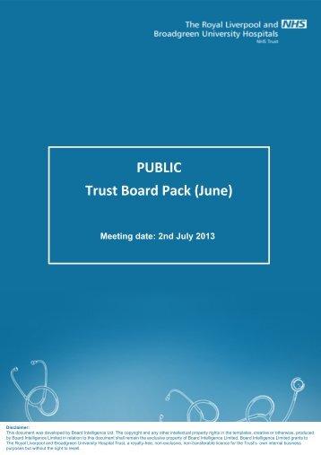 Trust Exec. report - Royal Liverpool and Broadgreen University ...