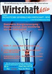 Wirtschaftszeitung von Unternehmern für Unternehmer - Fachliste