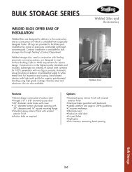 Welded Silos Technical Specifications - Material Processing - Sterling