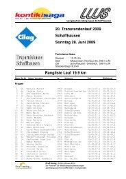 Rangliste Gesamt Herren + Damen, inkl. Kategorien 2009 - LWS ...