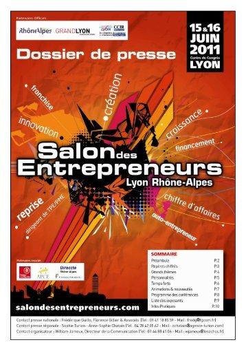 Dossier de presse - SDE Lyon 2011 - Salon des Entrepreneurs