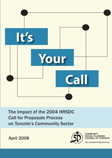 HRSDC It's Your Call - Report.pdf - ONESTEP