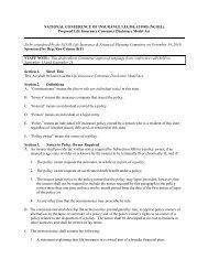 Life Insurance Consumer Disclosure Model Act - National ...