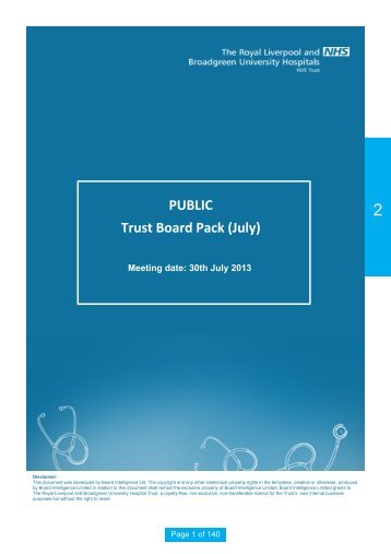Trust Board Public 30 July.pdf - Royal Liverpool and Broadgreen ...