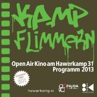 Open Air Kino am Hawerkamp 31 Programm 2013 - Cinema ...