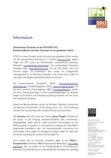 Zentralverband Gartenbau auf der IPM ESSEN 2012 ...