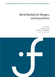 World Markets for Mergers and Acquisitions - SIFR - The Institute for ...